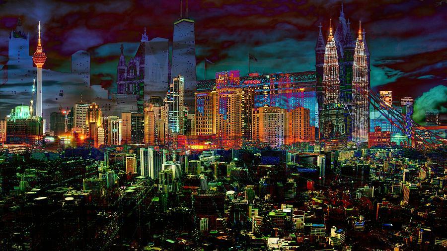 City Digital Art - City Art Cache Pom  by Mary Clanahan