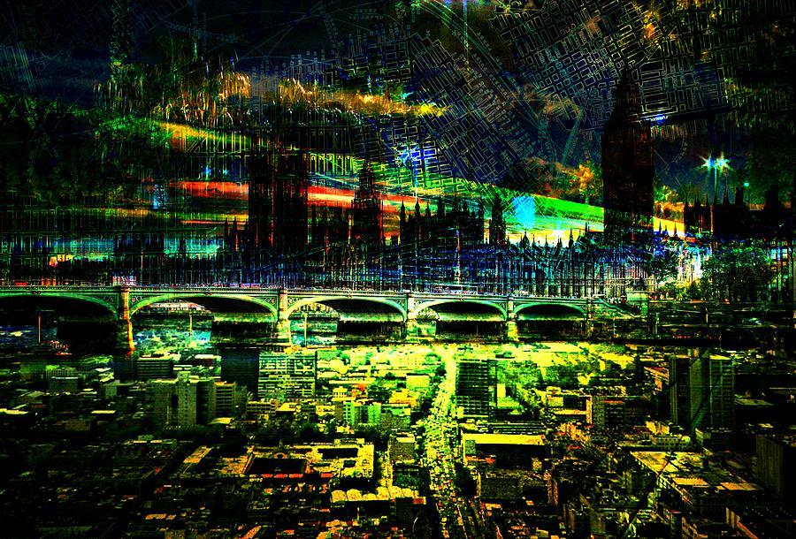 City Art Shine Dawn Digital Art by Mary Clanahan