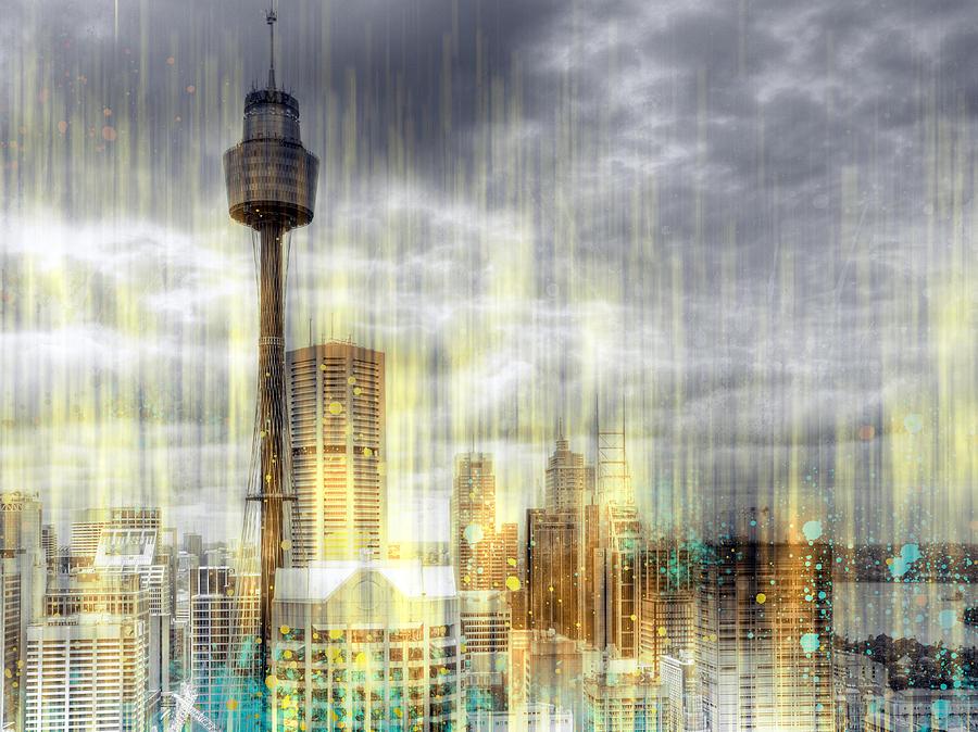 Australia Photograph - City-art Sydney Rainfall by Melanie Viola