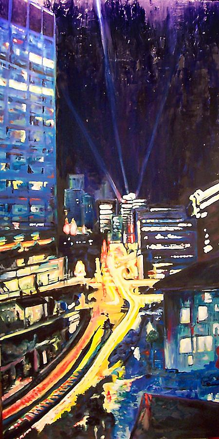 City at Night by Alan Schwartz