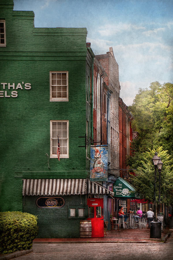 Baltimore Photograph - City - Baltimore - Fells Point Md - Berthas And The Greene Turtle  by Mike Savad