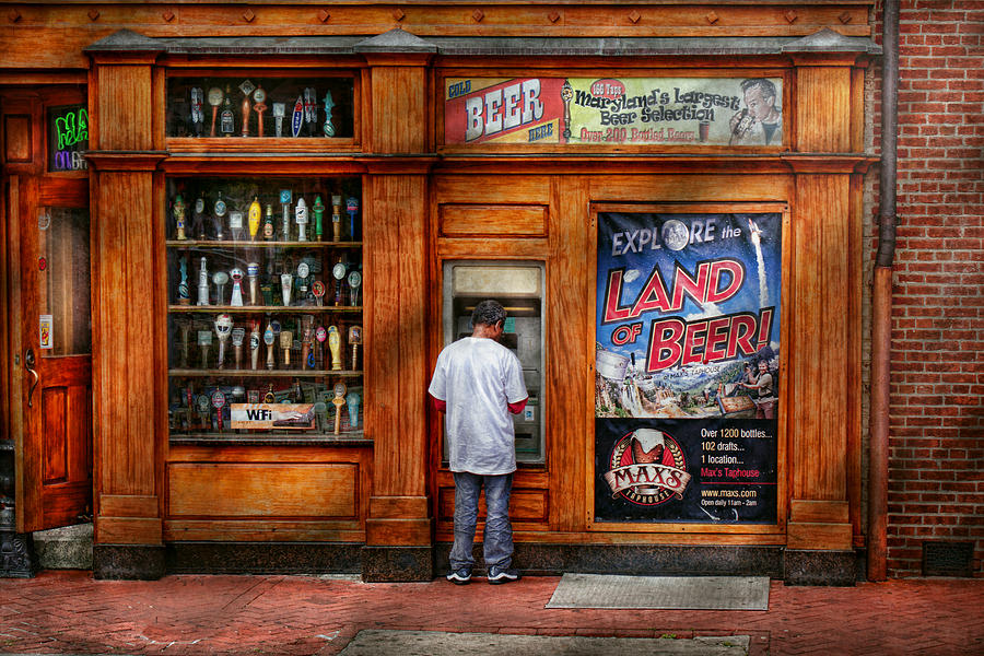 Baltimore Photograph - City - Baltimore Md - Explore The Land Of Beer  by Mike Savad