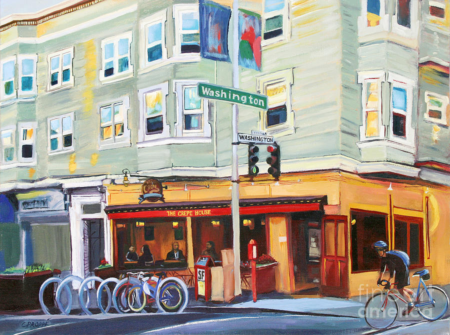 City Painting - City Bike At Polk And Washington by Colleen Proppe