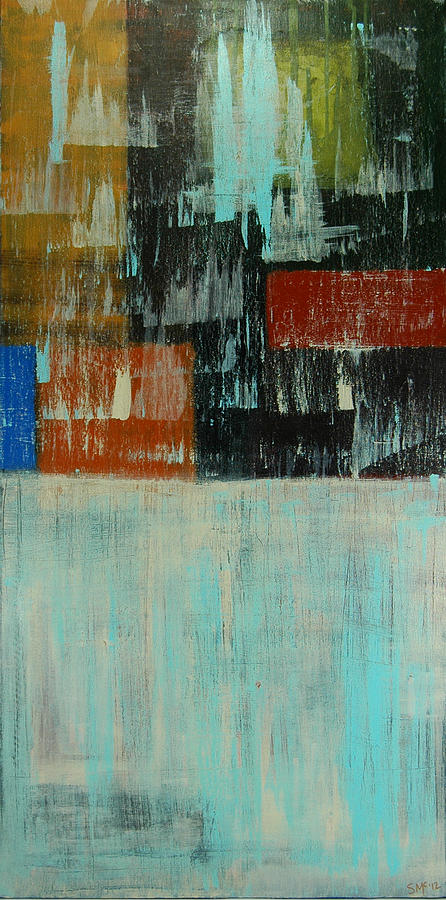 Abstract Painting - City Blocks by Sue McElligott