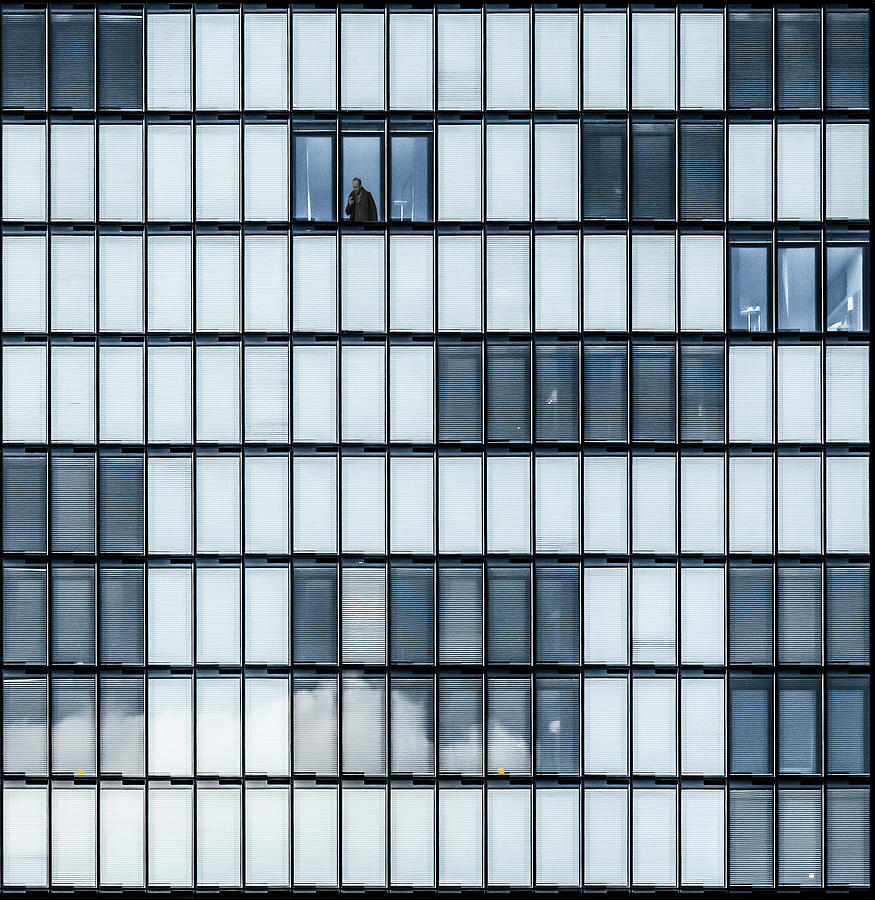 Architecture Photograph - City Blues by Luc Vangindertael (lagrange)