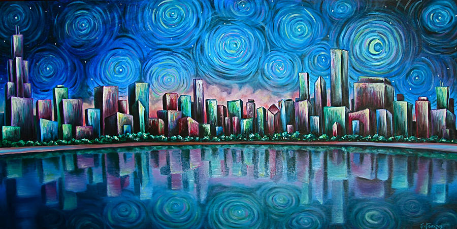 City By Starlight by Jim Figora