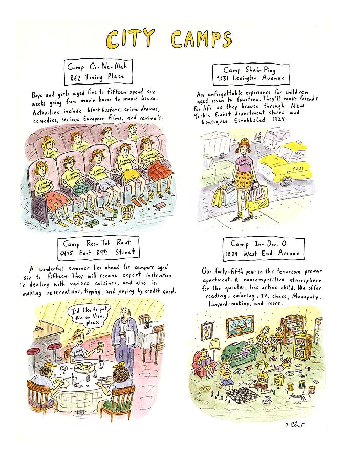 City Camps Drawing by Roz Chast
