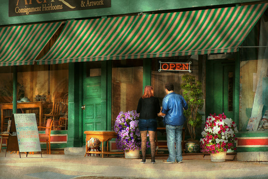 Canandaigua Photograph - City - Canandaigua Ny - Buyers Delight by Mike Savad