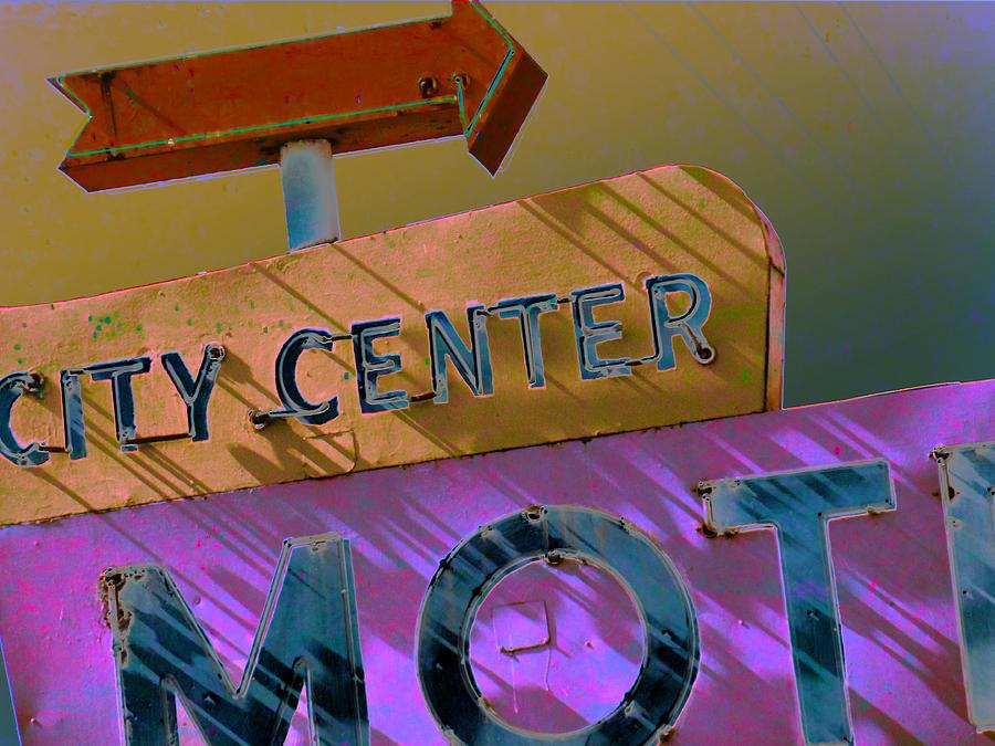 Motel Photograph - City Center Motel Sepia Variation by Gail Lawnicki