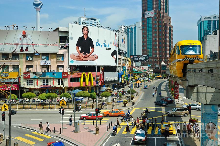Bukit Bintang Photograph - City Centre Scene - Kuala Lumpur - Malaysia by David Hill