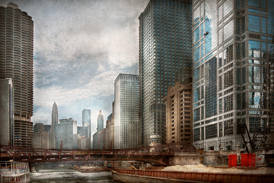 Chicago Photograph - City - Chicago Il -  Building A New City by Mike Savad