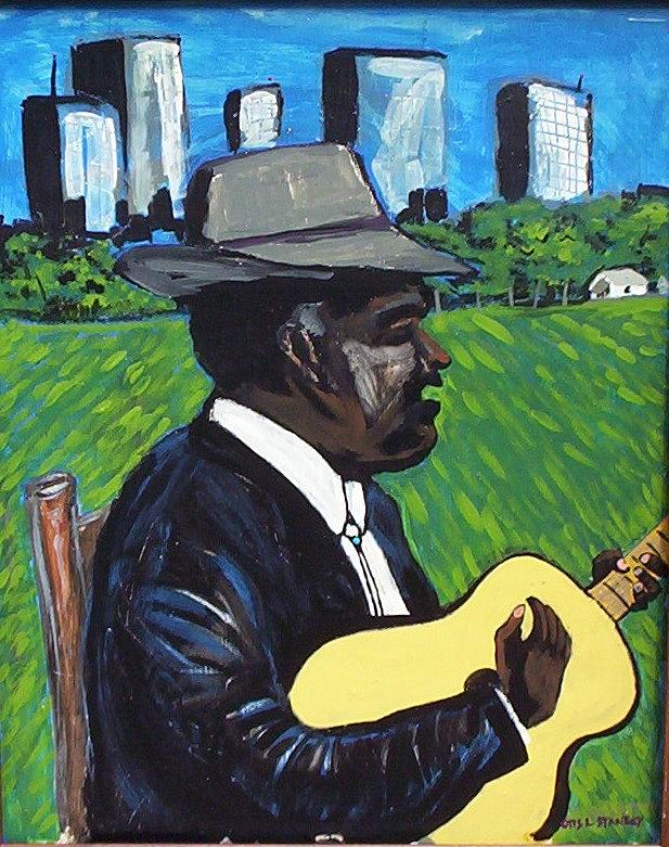 City Country Blues Painting by Otis L Stanley