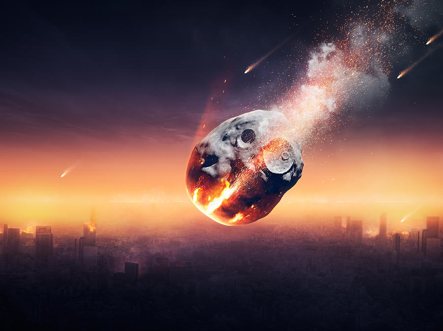 City Photograph - City destroyed by meteor shower by Johan Swanepoel