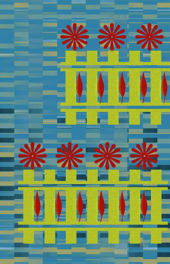 Multicolored Digital Art - City Garden by Ben and Raisa Gertsberg