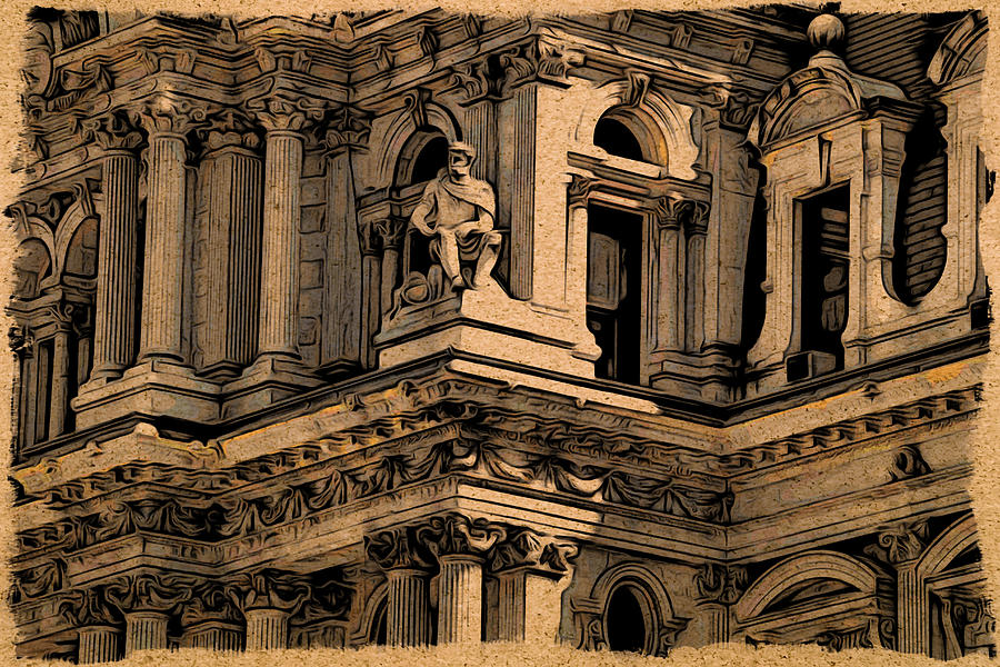 Philadelphia Photograph - City Hall Closeup by Alice Gipson