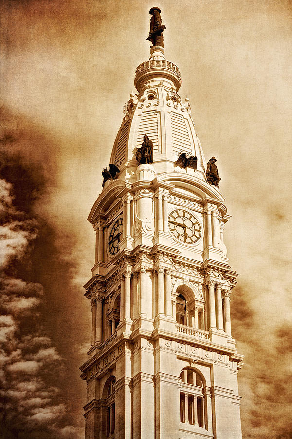 Tower of City Hall - Downtown Philadelphia - One Penn Square by Photography  By Sai