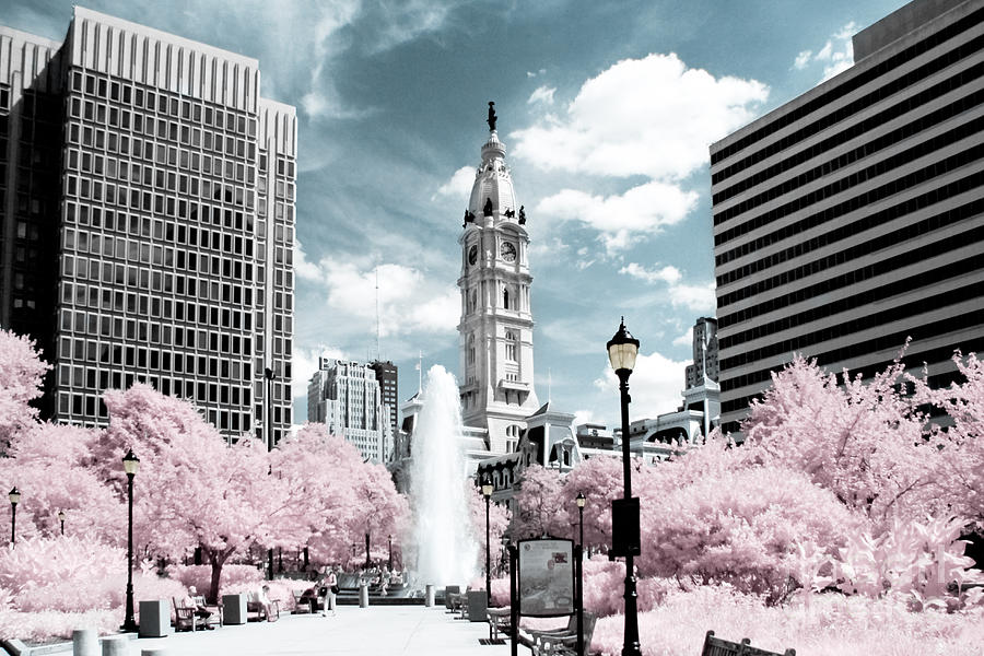 Philadelphia Photograph - City Hall in Spring by Stacey Granger