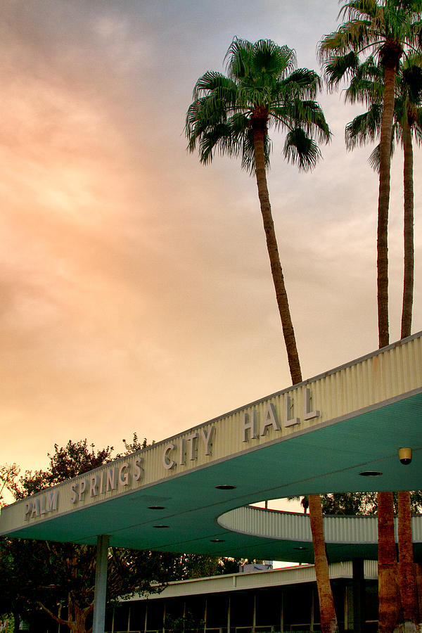 Palm Springs Photograph - CITY HALL SKY Palm Springs City Hall by William Dey