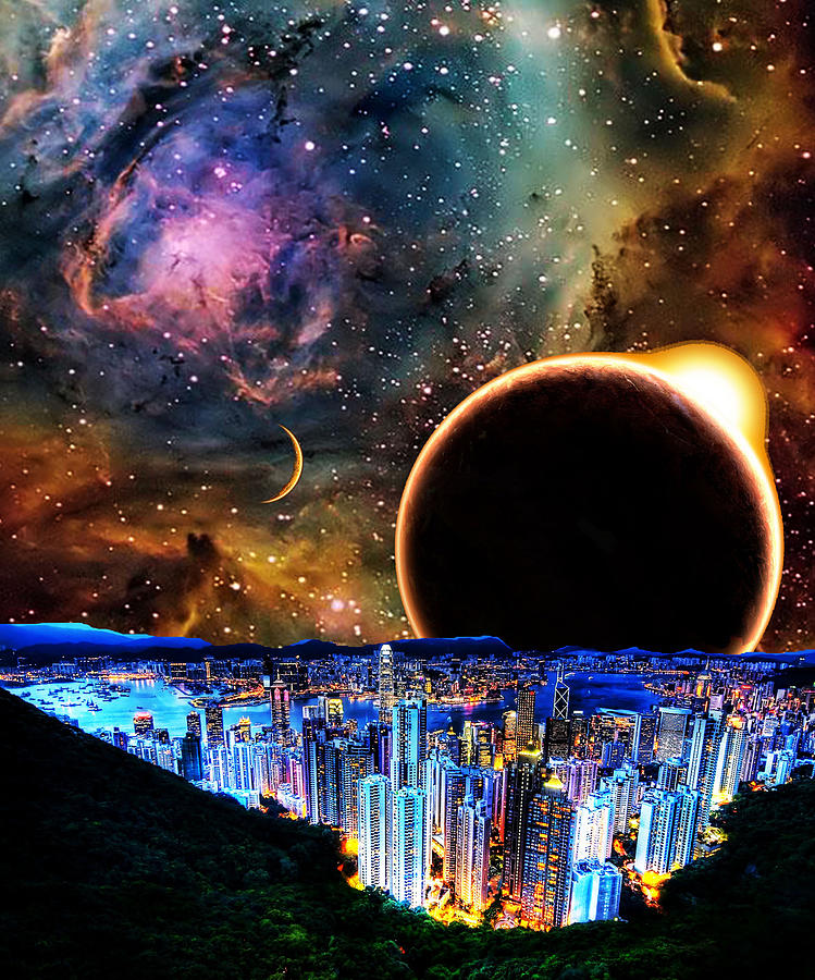 Cities Photograph - City In Space by Bruce Iorio