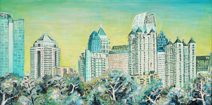 Atlanta Painting - City In The Trees by Natalie Huggins