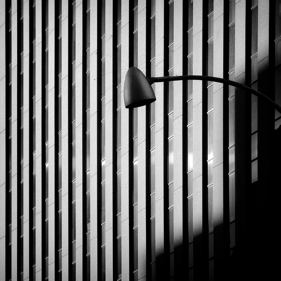 New York Photograph - City Lamp by Dave Bowman