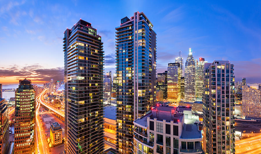 City Life Downtown Toronto Vibrant Cityscape Skyline Photograph by Benedek