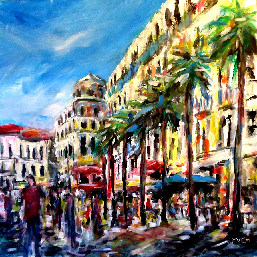 Sunny Painting - City Life by K McCoy
