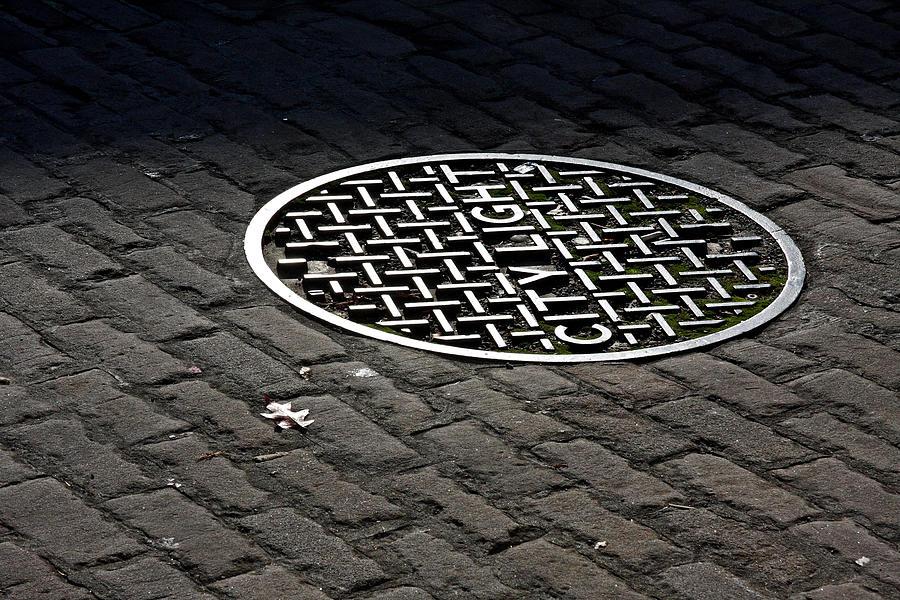 Manhole Photograph - City Light by Steve Raley