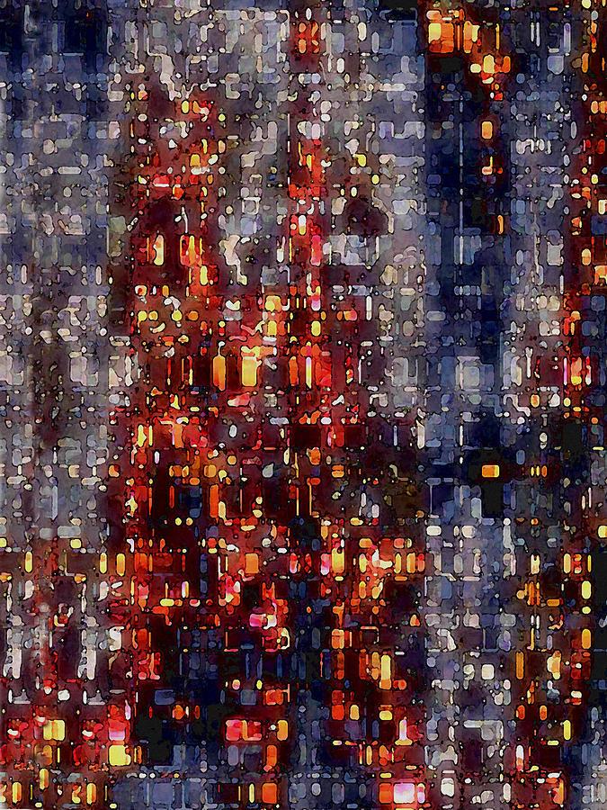 Digital Digital Art - City Lights by David Hansen