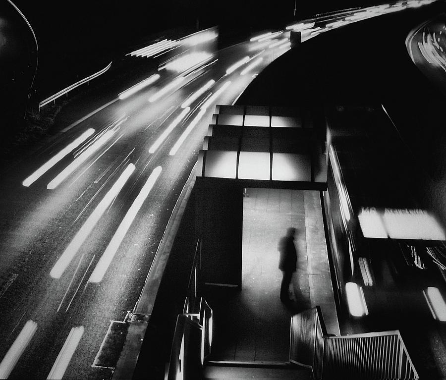 Night Photograph - City Lights by Holger Droste