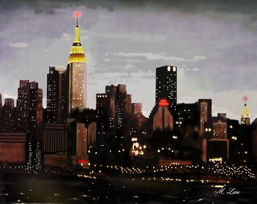 City Lights Painting by Marcos Lara