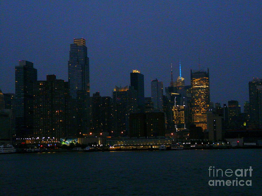 New York Photograph - City Lights Of New York by Avis  Noelle