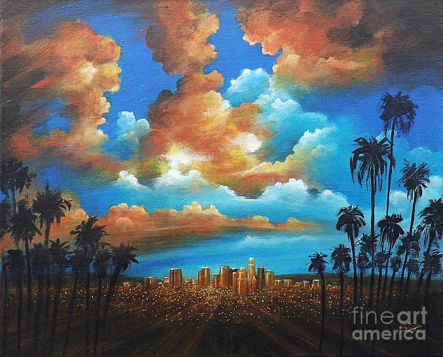 Acrylics Painting - City Of Angels by Artist ForYou