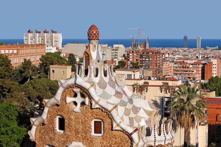 Park Photograph - City Of Barcelona From Park Guell by Artur Bogacki