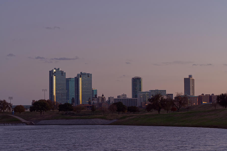 City Of Fort Worth After Sunset Photograph