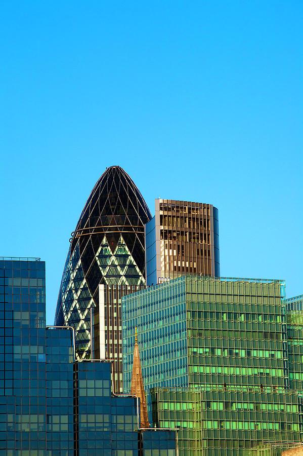 City Of London Financial Buildings Photograph by Scott E Barbour