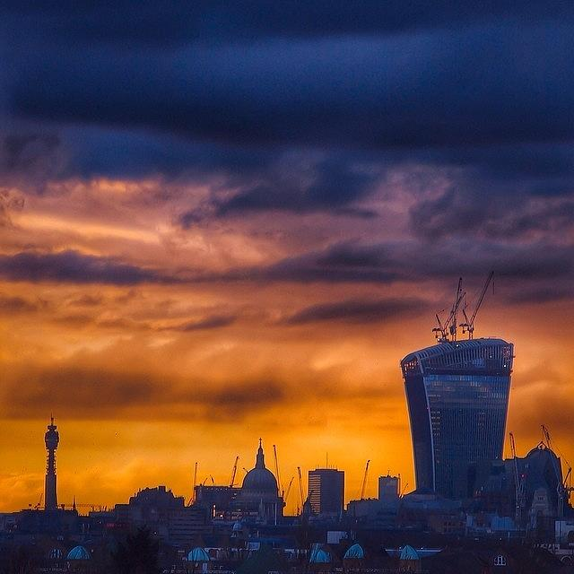 London Photograph - City Of London Skyline At Golden Hour by Neil Andrews