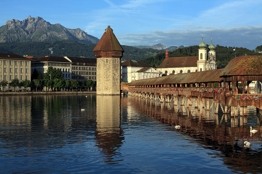 Luzern Photograph - City Of Lucerne In Switzerland by Ron Sumners