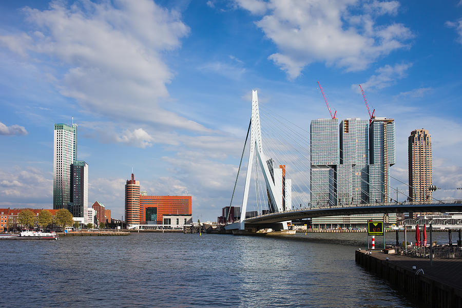 Rotterdam Photograph - City Of Rotterdam Cityscape In Netherlands by Artur Bogacki