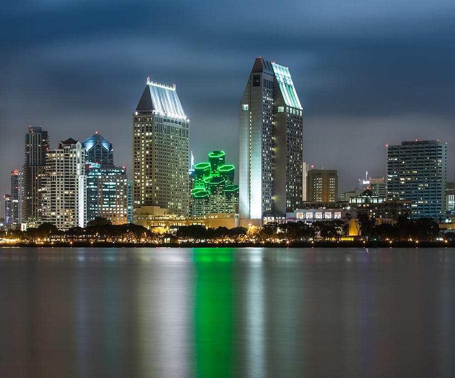 America's Finest City Photograph - City of San Diego Skyline 1 by Larry Marshall