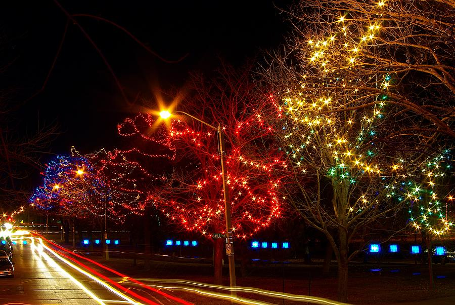 Christmas Photograph - City Park Lights by Paul Wash