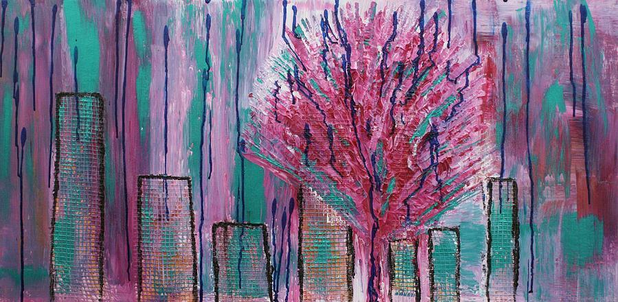 Tree Painting - City Pear Tree by Nan Bilden