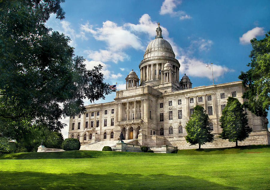 Savad Photograph - City - Providence Ri - The Capitol  by Mike Savad