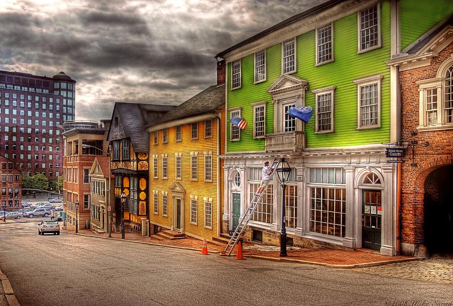 Savad Photograph - City - Providence Ri - Thomas Street by Mike Savad