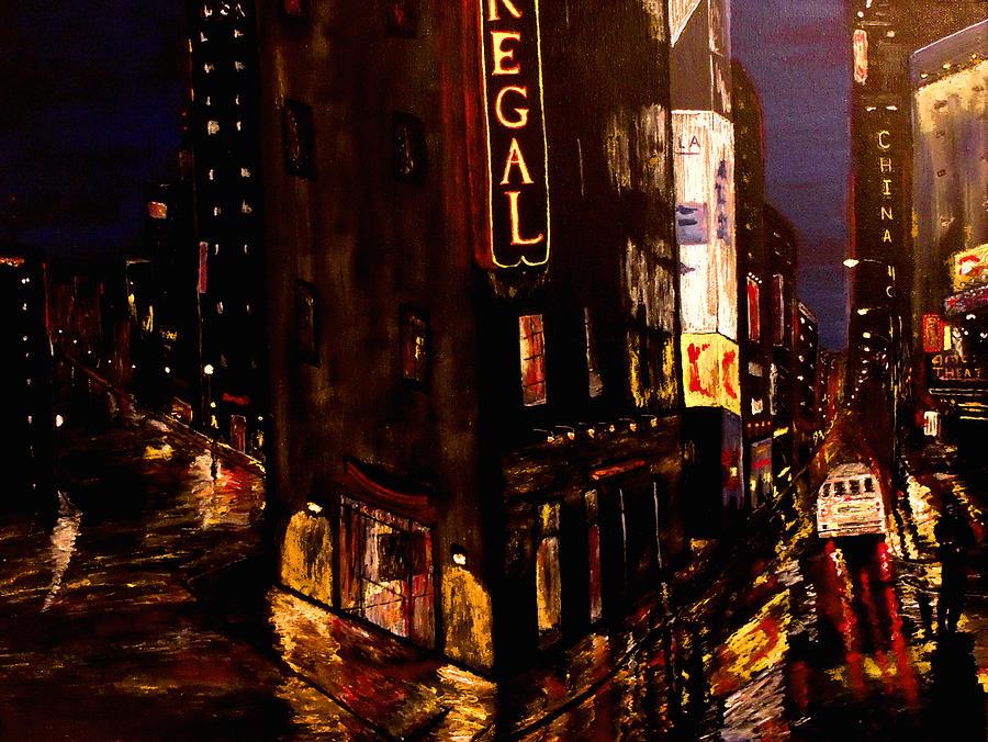 New York City Painting - City Rain 2 by Mark Moore