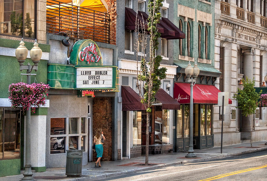 Savad Photograph - City - Roanoke Va - Down One Fine Street  by Mike Savad