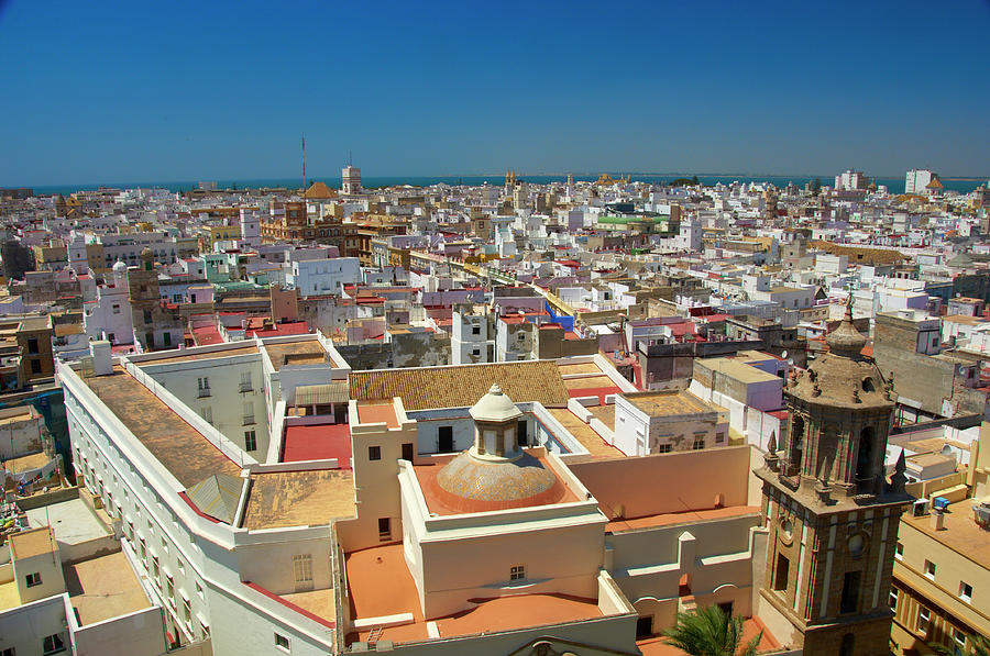 City Rooftops From Roof Of Cadiz Photograph by Simon Greenwood