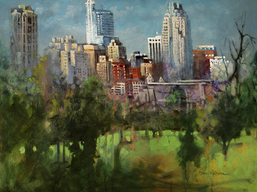 Raleigh Painting - City Set On A Hill by Dan Nelson