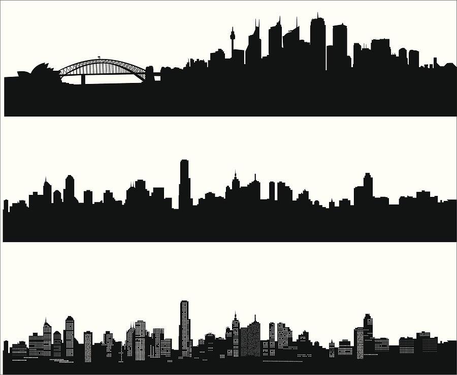 City skylines Drawing by LockieCurrie