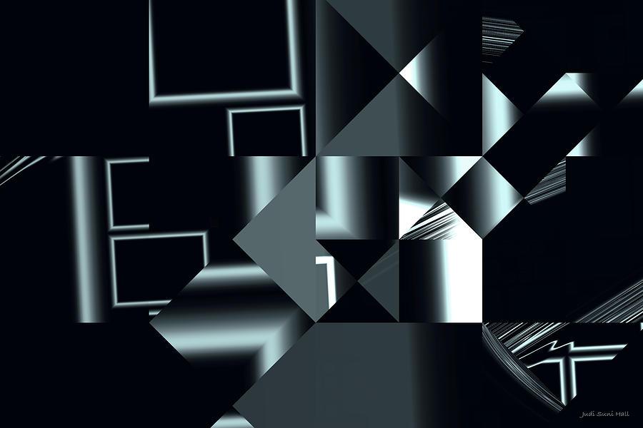 Abstract Digital Art - City Smart by Judi Suni Hall